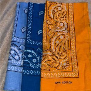 Other - Bandanas blue and orange